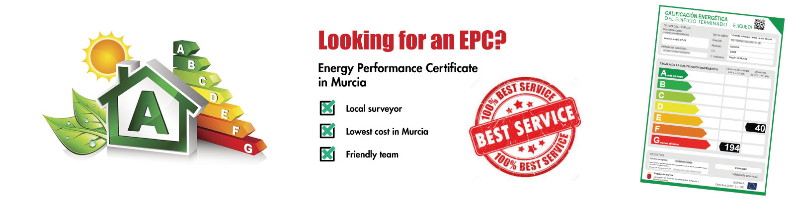 energy performance certificate in Murcia